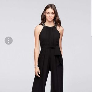 NWT navy blue dressy jumpsuit size 12